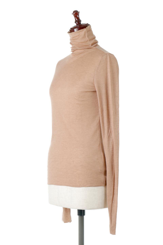 TurtleNeckSheerTopタートルネック・シアートップス大人カジュアルに最適な海外ファッションのothers(その他インポートアイテム)のトップスやカットソー。涼し気な透け感のシアー素材を使用した長袖カットソー。程よいタイトなシルエットでインナーに合わせても邪魔になりません。/main-1