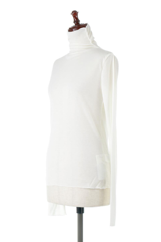 TurtleNeckSheerTopタートルネック・シアートップス大人カジュアルに最適な海外ファッションのothers(その他インポートアイテム)のトップスやカットソー。涼し気な透け感のシアー素材を使用した長袖カットソー。程よいタイトなシルエットでインナーに合わせても邪魔になりません。/main-11