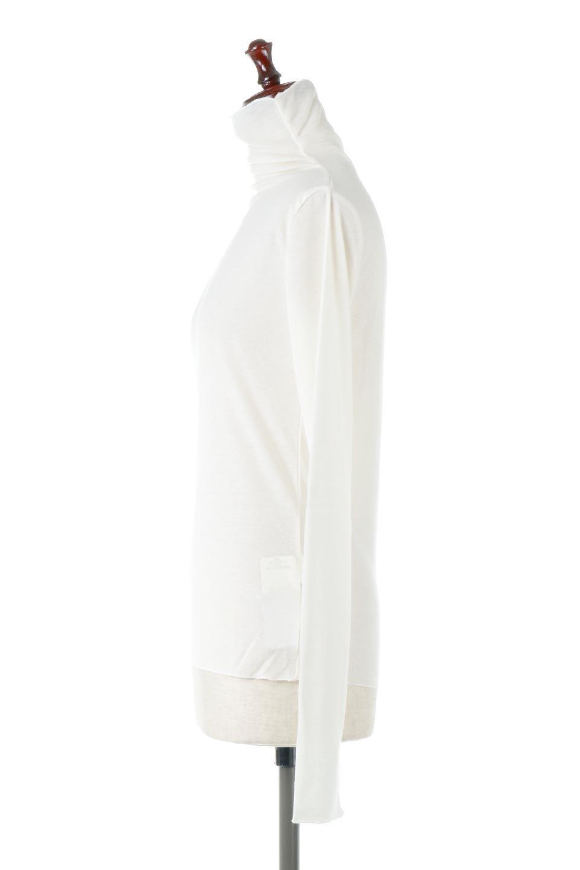 TurtleNeckSheerTopタートルネック・シアートップス大人カジュアルに最適な海外ファッションのothers(その他インポートアイテム)のトップスやカットソー。涼し気な透け感のシアー素材を使用した長袖カットソー。程よいタイトなシルエットでインナーに合わせても邪魔になりません。/main-12