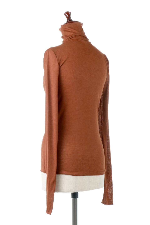 TurtleNeckSheerTopタートルネック・シアートップス大人カジュアルに最適な海外ファッションのothers(その他インポートアイテム)のトップスやカットソー。涼し気な透け感のシアー素材を使用した長袖カットソー。程よいタイトなシルエットでインナーに合わせても邪魔になりません。/main-18