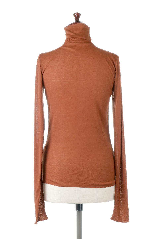 TurtleNeckSheerTopタートルネック・シアートップス大人カジュアルに最適な海外ファッションのothers(その他インポートアイテム)のトップスやカットソー。涼し気な透け感のシアー素材を使用した長袖カットソー。程よいタイトなシルエットでインナーに合わせても邪魔になりません。/main-19