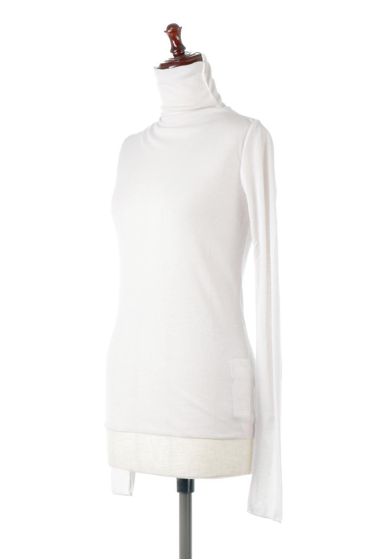 TurtleNeckSheerTopタートルネック・シアートップス大人カジュアルに最適な海外ファッションのothers(その他インポートアイテム)のトップスやカットソー。涼し気な透け感のシアー素材を使用した長袖カットソー。程よいタイトなシルエットでインナーに合わせても邪魔になりません。/main-21