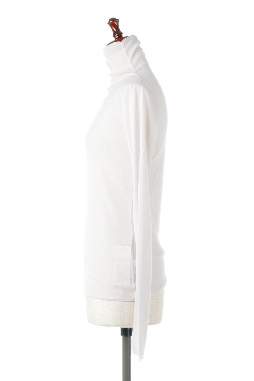 TurtleNeckSheerTopタートルネック・シアートップス大人カジュアルに最適な海外ファッションのothers(その他インポートアイテム)のトップスやカットソー。涼し気な透け感のシアー素材を使用した長袖カットソー。程よいタイトなシルエットでインナーに合わせても邪魔になりません。/main-22