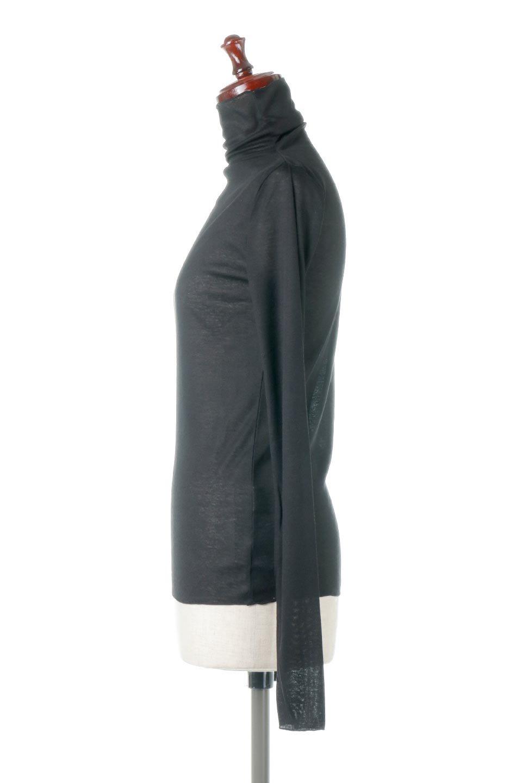 TurtleNeckSheerTopタートルネック・シアートップス大人カジュアルに最適な海外ファッションのothers(その他インポートアイテム)のトップスやカットソー。涼し気な透け感のシアー素材を使用した長袖カットソー。程よいタイトなシルエットでインナーに合わせても邪魔になりません。/main-27
