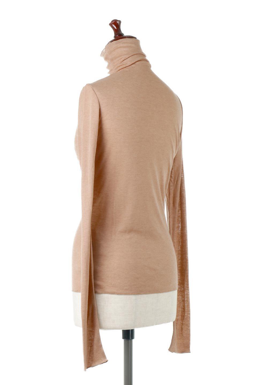 TurtleNeckSheerTopタートルネック・シアートップス大人カジュアルに最適な海外ファッションのothers(その他インポートアイテム)のトップスやカットソー。涼し気な透け感のシアー素材を使用した長袖カットソー。程よいタイトなシルエットでインナーに合わせても邪魔になりません。/main-3