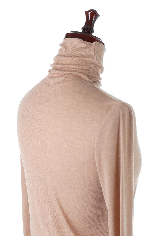 TurtleNeckSheerTopタートルネック・シアートップス大人カジュアルに最適な海外ファッションのothers(その他インポートアイテム)のトップスやカットソー。涼し気な透け感のシアー素材を使用した長袖カットソー。程よいタイトなシルエットでインナーに合わせても邪魔になりません。/main-32