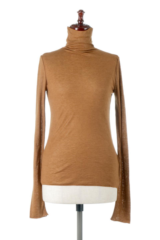 TurtleNeckSheerTopタートルネック・シアートップス大人カジュアルに最適な海外ファッションのothers(その他インポートアイテム)のトップスやカットソー。涼し気な透け感のシアー素材を使用した長袖カットソー。程よいタイトなシルエットでインナーに合わせても邪魔になりません。/main-5