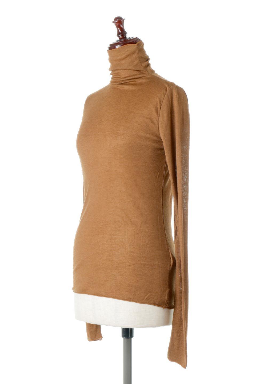 TurtleNeckSheerTopタートルネック・シアートップス大人カジュアルに最適な海外ファッションのothers(その他インポートアイテム)のトップスやカットソー。涼し気な透け感のシアー素材を使用した長袖カットソー。程よいタイトなシルエットでインナーに合わせても邪魔になりません。/main-6