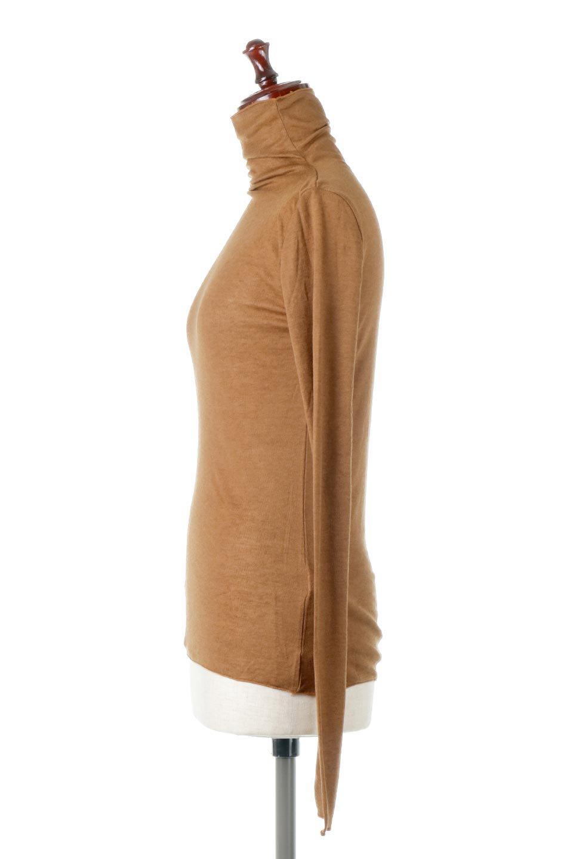 TurtleNeckSheerTopタートルネック・シアートップス大人カジュアルに最適な海外ファッションのothers(その他インポートアイテム)のトップスやカットソー。涼し気な透け感のシアー素材を使用した長袖カットソー。程よいタイトなシルエットでインナーに合わせても邪魔になりません。/main-7