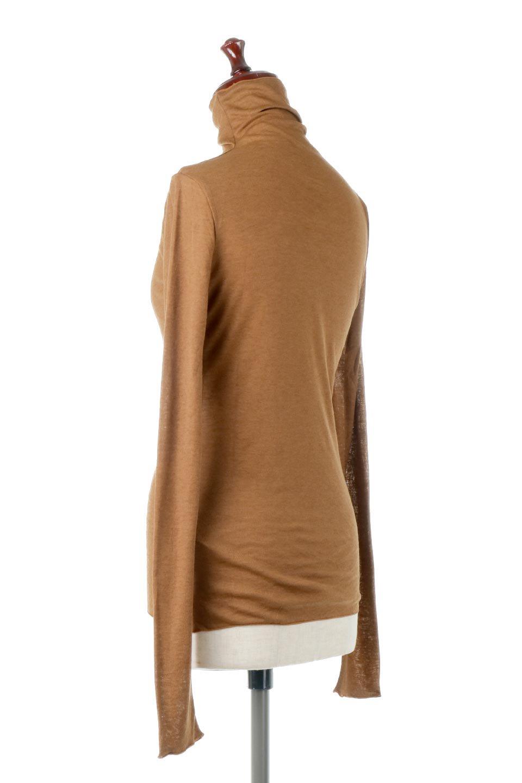 TurtleNeckSheerTopタートルネック・シアートップス大人カジュアルに最適な海外ファッションのothers(その他インポートアイテム)のトップスやカットソー。涼し気な透け感のシアー素材を使用した長袖カットソー。程よいタイトなシルエットでインナーに合わせても邪魔になりません。/main-8