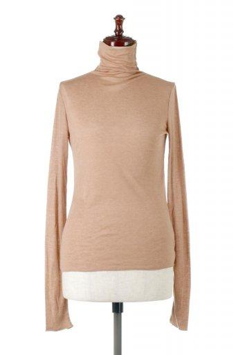 海外ファッションや大人カジュアルに最適なインポートセレクトアイテムのTurtle Neck Sheer Top タートルネック・シアートップス