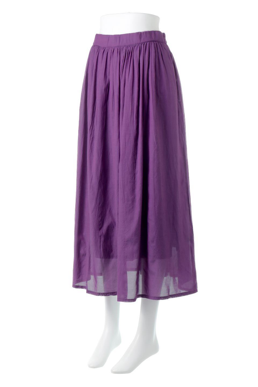 SemiSheerFlareSkirtスシボイル・フレアロングスカート大人カジュアルに最適な海外ファッションのothers(その他インポートアイテム)のボトムやスカート。ビスコース(レーヨン)とコットンのスシボイル生地を使用した発色の良いフレアスカート。スシボイルは上品な透け感と表面に若干の光沢があり、非常に人気のある素材です。/main-1