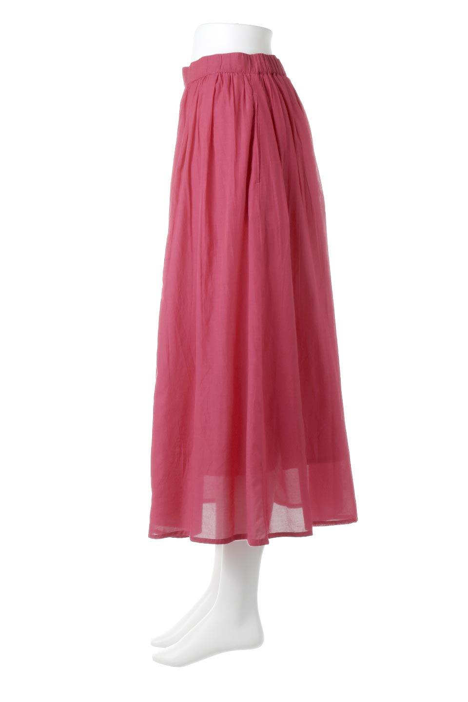 SemiSheerFlareSkirtスシボイル・フレアロングスカート大人カジュアルに最適な海外ファッションのothers(その他インポートアイテム)のボトムやスカート。ビスコース(レーヨン)とコットンのスシボイル生地を使用した発色の良いフレアスカート。スシボイルは上品な透け感と表面に若干の光沢があり、非常に人気のある素材です。/main-12