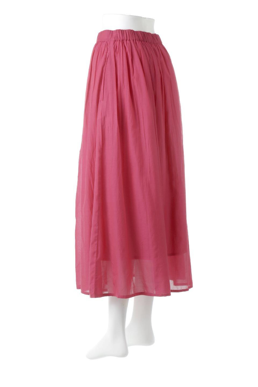 SemiSheerFlareSkirtスシボイル・フレアロングスカート大人カジュアルに最適な海外ファッションのothers(その他インポートアイテム)のボトムやスカート。ビスコース(レーヨン)とコットンのスシボイル生地を使用した発色の良いフレアスカート。スシボイルは上品な透け感と表面に若干の光沢があり、非常に人気のある素材です。/main-13