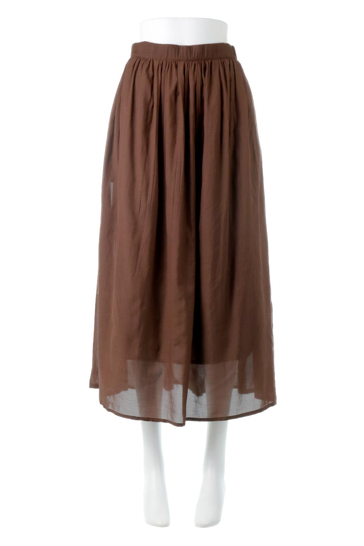 SemiSheerFlareSkirtスシボイル・フレアロングスカート大人カジュアルに最適な海外ファッションのothers(その他インポートアイテム)のボトムやスカート。ビスコース(レーヨン)とコットンのスシボイル生地を使用した発色の良いフレアスカート。スシボイルは上品な透け感と表面に若干の光沢があり、非常に人気のある素材です。/main-15