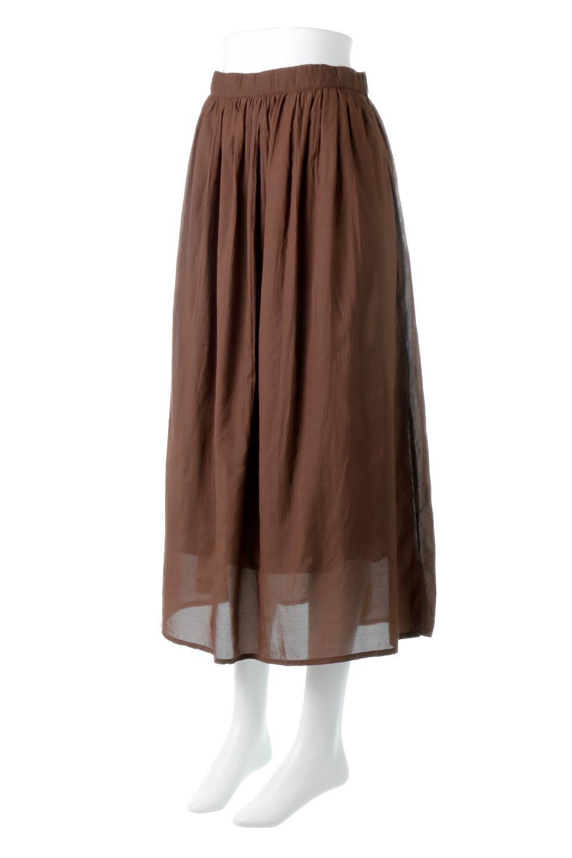 SemiSheerFlareSkirtスシボイル・フレアロングスカート大人カジュアルに最適な海外ファッションのothers(その他インポートアイテム)のボトムやスカート。ビスコース(レーヨン)とコットンのスシボイル生地を使用した発色の良いフレアスカート。スシボイルは上品な透け感と表面に若干の光沢があり、非常に人気のある素材です。/main-16