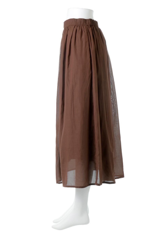 SemiSheerFlareSkirtスシボイル・フレアロングスカート大人カジュアルに最適な海外ファッションのothers(その他インポートアイテム)のボトムやスカート。ビスコース(レーヨン)とコットンのスシボイル生地を使用した発色の良いフレアスカート。スシボイルは上品な透け感と表面に若干の光沢があり、非常に人気のある素材です。/main-17