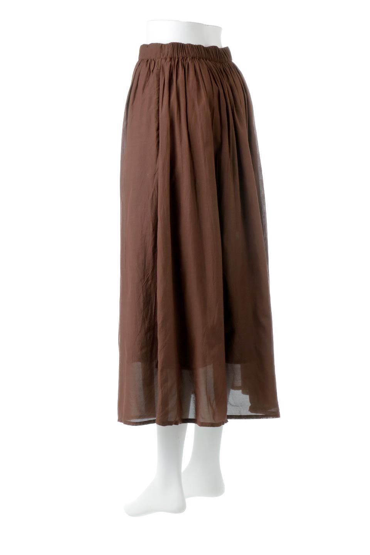 SemiSheerFlareSkirtスシボイル・フレアロングスカート大人カジュアルに最適な海外ファッションのothers(その他インポートアイテム)のボトムやスカート。ビスコース(レーヨン)とコットンのスシボイル生地を使用した発色の良いフレアスカート。スシボイルは上品な透け感と表面に若干の光沢があり、非常に人気のある素材です。/main-18