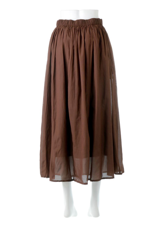 SemiSheerFlareSkirtスシボイル・フレアロングスカート大人カジュアルに最適な海外ファッションのothers(その他インポートアイテム)のボトムやスカート。ビスコース(レーヨン)とコットンのスシボイル生地を使用した発色の良いフレアスカート。スシボイルは上品な透け感と表面に若干の光沢があり、非常に人気のある素材です。/main-19