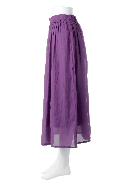 SemiSheerFlareSkirtスシボイル・フレアロングスカート大人カジュアルに最適な海外ファッションのothers(その他インポートアイテム)のボトムやスカート。ビスコース(レーヨン)とコットンのスシボイル生地を使用した発色の良いフレアスカート。スシボイルは上品な透け感と表面に若干の光沢があり、非常に人気のある素材です。/main-2