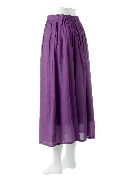 SemiSheerFlareSkirtスシボイル・フレアロングスカート大人カジュアルに最適な海外ファッションのothers(その他インポートアイテム)のボトムやスカート。ビスコース(レーヨン)とコットンのスシボイル生地を使用した発色の良いフレアスカート。スシボイルは上品な透け感と表面に若干の光沢があり、非常に人気のある素材です。/main-3