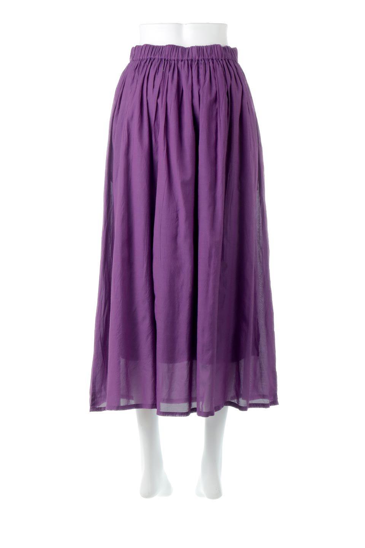 SemiSheerFlareSkirtスシボイル・フレアロングスカート大人カジュアルに最適な海外ファッションのothers(その他インポートアイテム)のボトムやスカート。ビスコース(レーヨン)とコットンのスシボイル生地を使用した発色の良いフレアスカート。スシボイルは上品な透け感と表面に若干の光沢があり、非常に人気のある素材です。/main-4