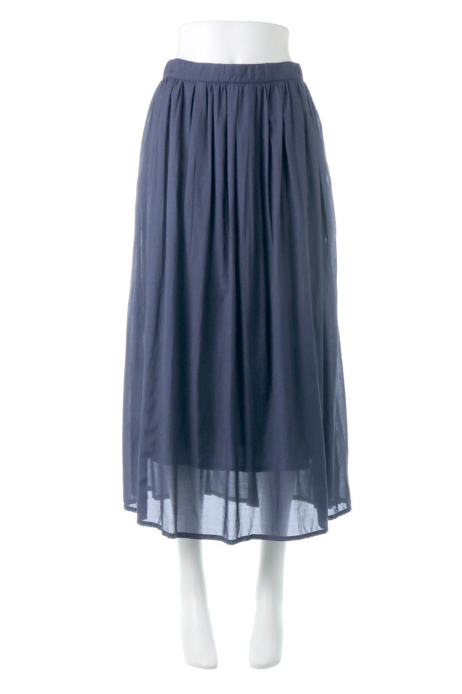 SemiSheerFlareSkirtスシボイル・フレアロングスカート大人カジュアルに最適な海外ファッションのothers(その他インポートアイテム)のボトムやスカート。ビスコース(レーヨン)とコットンのスシボイル生地を使用した発色の良いフレアスカート。スシボイルは上品な透け感と表面に若干の光沢があり、非常に人気のある素材です。/main-5