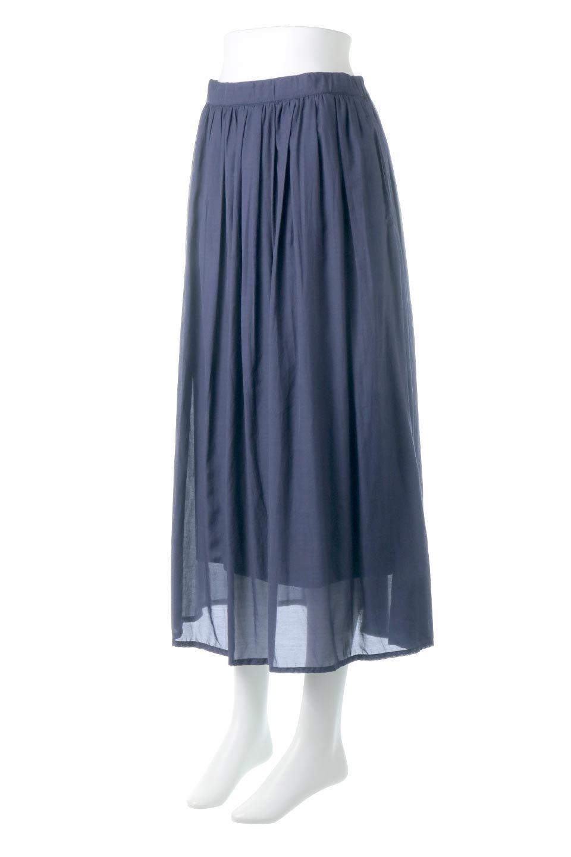 SemiSheerFlareSkirtスシボイル・フレアロングスカート大人カジュアルに最適な海外ファッションのothers(その他インポートアイテム)のボトムやスカート。ビスコース(レーヨン)とコットンのスシボイル生地を使用した発色の良いフレアスカート。スシボイルは上品な透け感と表面に若干の光沢があり、非常に人気のある素材です。/main-6