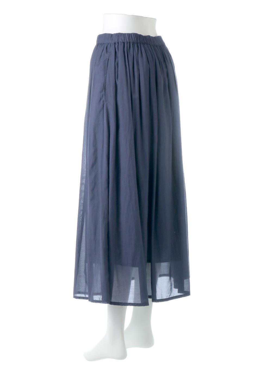 SemiSheerFlareSkirtスシボイル・フレアロングスカート大人カジュアルに最適な海外ファッションのothers(その他インポートアイテム)のボトムやスカート。ビスコース(レーヨン)とコットンのスシボイル生地を使用した発色の良いフレアスカート。スシボイルは上品な透け感と表面に若干の光沢があり、非常に人気のある素材です。/main-8