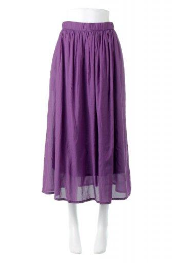 海外ファッションや大人カジュアルに最適なインポートセレクトアイテムのSemi Sheer Flare Skirt スシボイル・フレアロングスカート