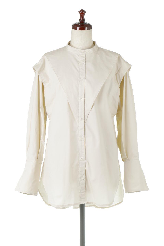 V-YokeLongSleeveBlouseVヨーク・長袖ブラウス大人カジュアルに最適な海外ファッションのothers(その他インポートアイテム)のトップスやシャツ・ブラウス。V字のヨークが印象的な長袖ブラウス。程よい張りがある生地を使用した大きめシルエットで春まで楽しめるアイテムです。