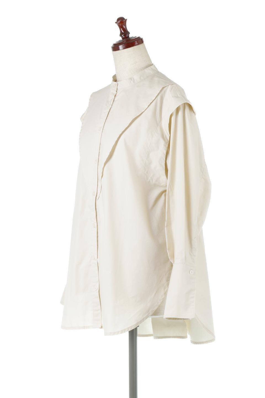 V-YokeLongSleeveBlouseVヨーク・長袖ブラウス大人カジュアルに最適な海外ファッションのothers(その他インポートアイテム)のトップスやシャツ・ブラウス。V字のヨークが印象的な長袖ブラウス。程よい張りがある生地を使用した大きめシルエットで春まで楽しめるアイテムです。/main-1