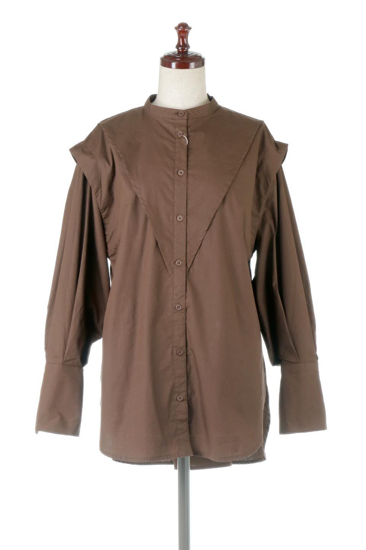 V-YokeLongSleeveBlouseVヨーク・長袖ブラウス大人カジュアルに最適な海外ファッションのothers(その他インポートアイテム)のトップスやシャツ・ブラウス。V字のヨークが印象的な長袖ブラウス。程よい張りがある生地を使用した大きめシルエットで春まで楽しめるアイテムです。/main-10