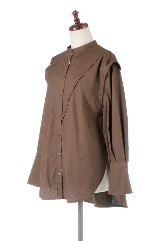 V-YokeLongSleeveBlouseVヨーク・長袖ブラウス大人カジュアルに最適な海外ファッションのothers(その他インポートアイテム)のトップスやシャツ・ブラウス。V字のヨークが印象的な長袖ブラウス。程よい張りがある生地を使用した大きめシルエットで春まで楽しめるアイテムです。/main-11