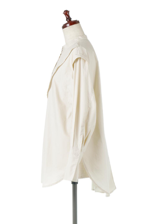 V-YokeLongSleeveBlouseVヨーク・長袖ブラウス大人カジュアルに最適な海外ファッションのothers(その他インポートアイテム)のトップスやシャツ・ブラウス。V字のヨークが印象的な長袖ブラウス。程よい張りがある生地を使用した大きめシルエットで春まで楽しめるアイテムです。/main-2