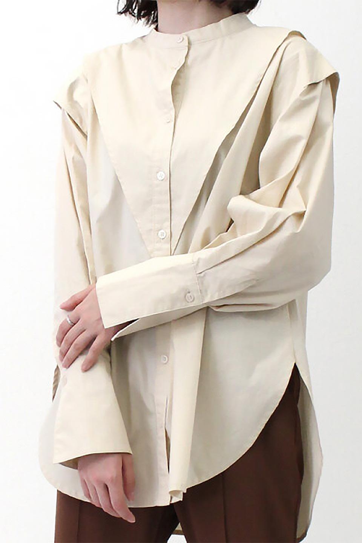 V-YokeLongSleeveBlouseVヨーク・長袖ブラウス大人カジュアルに最適な海外ファッションのothers(その他インポートアイテム)のトップスやシャツ・ブラウス。V字のヨークが印象的な長袖ブラウス。程よい張りがある生地を使用した大きめシルエットで春まで楽しめるアイテムです。/main-23