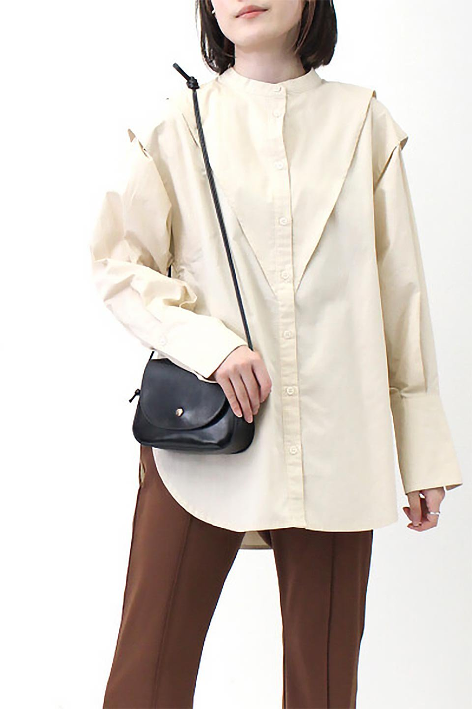 V-YokeLongSleeveBlouseVヨーク・長袖ブラウス大人カジュアルに最適な海外ファッションのothers(その他インポートアイテム)のトップスやシャツ・ブラウス。V字のヨークが印象的な長袖ブラウス。程よい張りがある生地を使用した大きめシルエットで春まで楽しめるアイテムです。/main-25