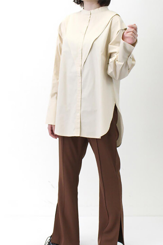 V-YokeLongSleeveBlouseVヨーク・長袖ブラウス大人カジュアルに最適な海外ファッションのothers(その他インポートアイテム)のトップスやシャツ・ブラウス。V字のヨークが印象的な長袖ブラウス。程よい張りがある生地を使用した大きめシルエットで春まで楽しめるアイテムです。/main-26
