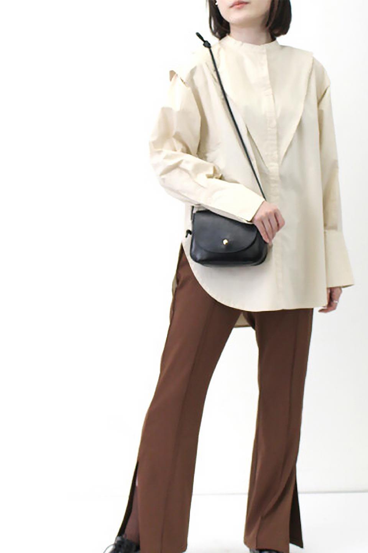 V-YokeLongSleeveBlouseVヨーク・長袖ブラウス大人カジュアルに最適な海外ファッションのothers(その他インポートアイテム)のトップスやシャツ・ブラウス。V字のヨークが印象的な長袖ブラウス。程よい張りがある生地を使用した大きめシルエットで春まで楽しめるアイテムです。/main-27