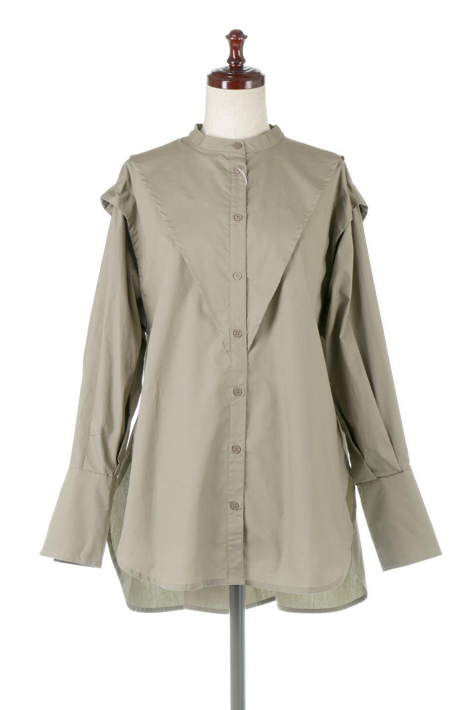 V-YokeLongSleeveBlouseVヨーク・長袖ブラウス大人カジュアルに最適な海外ファッションのothers(その他インポートアイテム)のトップスやシャツ・ブラウス。V字のヨークが印象的な長袖ブラウス。程よい張りがある生地を使用した大きめシルエットで春まで楽しめるアイテムです。/main-5