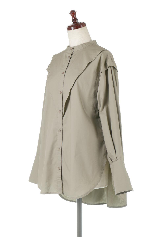 V-YokeLongSleeveBlouseVヨーク・長袖ブラウス大人カジュアルに最適な海外ファッションのothers(その他インポートアイテム)のトップスやシャツ・ブラウス。V字のヨークが印象的な長袖ブラウス。程よい張りがある生地を使用した大きめシルエットで春まで楽しめるアイテムです。/main-6