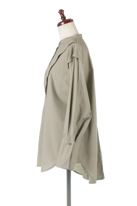 V-YokeLongSleeveBlouseVヨーク・長袖ブラウス大人カジュアルに最適な海外ファッションのothers(その他インポートアイテム)のトップスやシャツ・ブラウス。V字のヨークが印象的な長袖ブラウス。程よい張りがある生地を使用した大きめシルエットで春まで楽しめるアイテムです。/main-7