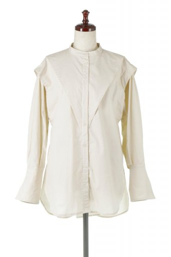 V-Yoke Long Sleeve Blouse Vヨーク・長袖ブラウス / 大人カジュアルに最適な海外ファッションが得意な福島市のセレクトショップbloom