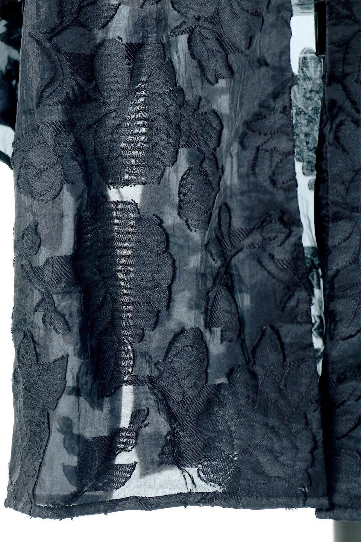 SheerJacquardSlitDressシアージャカード・スリットワンピース大人カジュアルに最適な海外ファッションのothers(その他インポートアイテム)のワンピースやミディワンピース。ジャカードの特徴を活かしたシアー素材のワンピース。フロントオープン仕様と深めのスリットなどでエキゾチックな印象もあるイテムです。/main-10