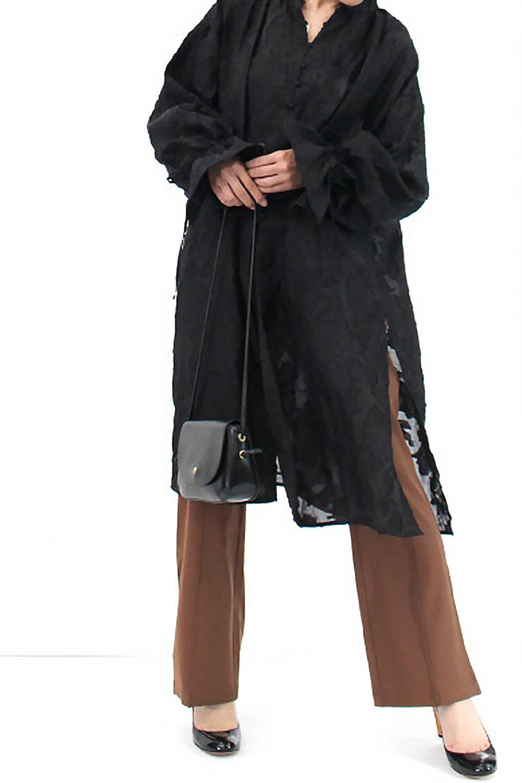 SheerJacquardSlitDressシアージャカード・スリットワンピース大人カジュアルに最適な海外ファッションのothers(その他インポートアイテム)のワンピースやミディワンピース。ジャカードの特徴を活かしたシアー素材のワンピース。フロントオープン仕様と深めのスリットなどでエキゾチックな印象もあるイテムです。/main-13