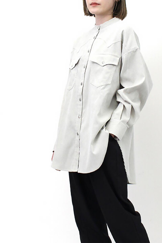 NarrowCordWesternBigShirts細うねコーデュロイ・ウエスタンシャツ大人カジュアルに最適な海外ファッションのothers(その他インポートアイテム)のトップスやシャツ・ブラウス。秋冬の定番素材コーデュロイを使用したウエスタン調のビッグシャツ。アーチ状のヨークやポケットはウエスタンシャツを感じさせるディテールですが、ルーズなシルエットは現代風な雰囲気です。/main-24