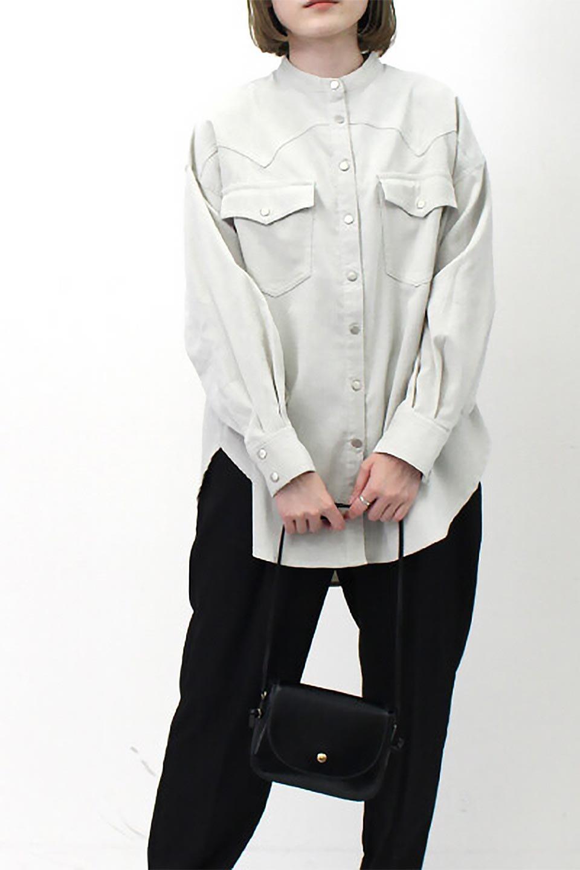 NarrowCordWesternBigShirts細うねコーデュロイ・ウエスタンシャツ大人カジュアルに最適な海外ファッションのothers(その他インポートアイテム)のトップスやシャツ・ブラウス。秋冬の定番素材コーデュロイを使用したウエスタン調のビッグシャツ。アーチ状のヨークやポケットはウエスタンシャツを感じさせるディテールですが、ルーズなシルエットは現代風な雰囲気です。/main-25