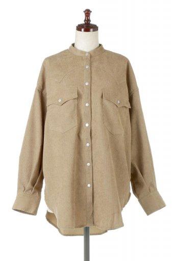 Narrow Cord Western Big Shirts 細うねコーデュロイ・ウエスタンシャツ / 大人カジュアルに最適な海外ファッションが得意な福島市のセレクトショップbloom
