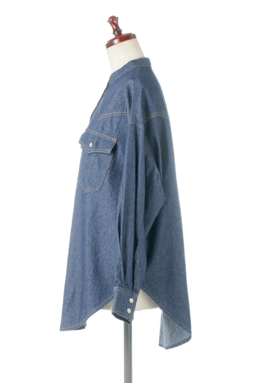 6.5ozDenimWesternBigShirtsライトデニム・ウエスタンシャツ大人カジュアルに最適な海外ファッションのothers(その他インポートアイテム)のトップスやシャツ・ブラウス。6.5オンス・ライトデニムを使用したウエスタン調のビッグシャツ。アーチ状のヨークやポケットはウエスタンシャツを感じさせるディテールですが、ルーズなシルエットは現代風な雰囲気です。/main-2