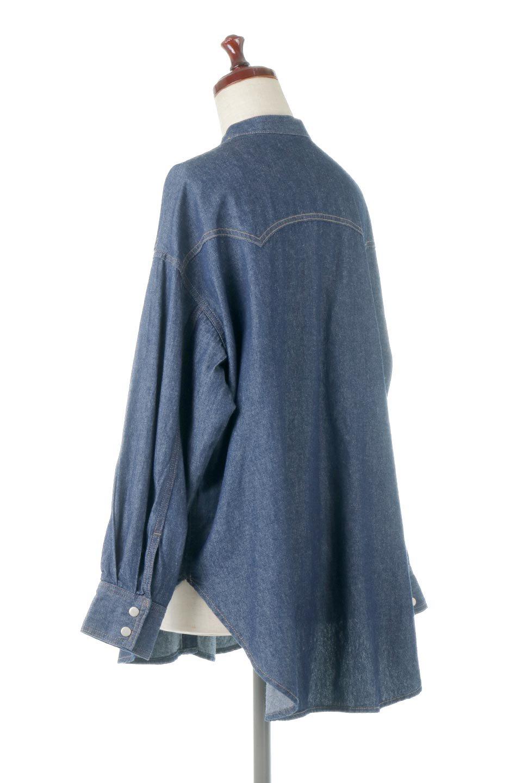 6.5ozDenimWesternBigShirtsライトデニム・ウエスタンシャツ大人カジュアルに最適な海外ファッションのothers(その他インポートアイテム)のトップスやシャツ・ブラウス。6.5オンス・ライトデニムを使用したウエスタン調のビッグシャツ。アーチ状のヨークやポケットはウエスタンシャツを感じさせるディテールですが、ルーズなシルエットは現代風な雰囲気です。/main-3